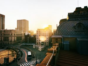 City of Pretoria, South Africa at sunset