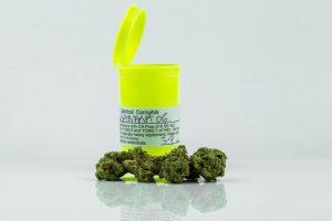 Medicinal cannabis prescription bottle