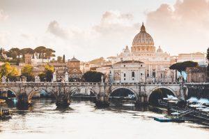 bridge over river in Italy