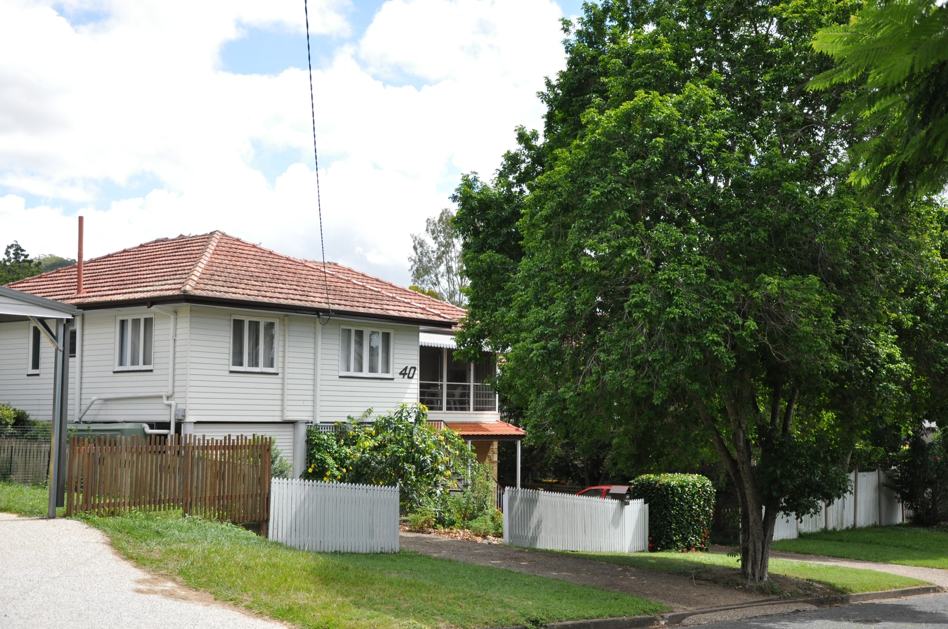 house on Australian street