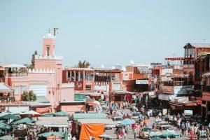 souks in Marrakech square