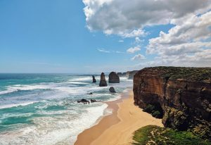 view over ocean and cliff tops in Victoria