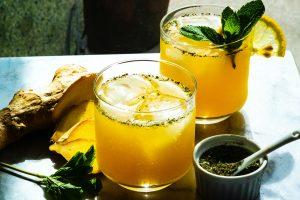 2 glasses of orange mocktail