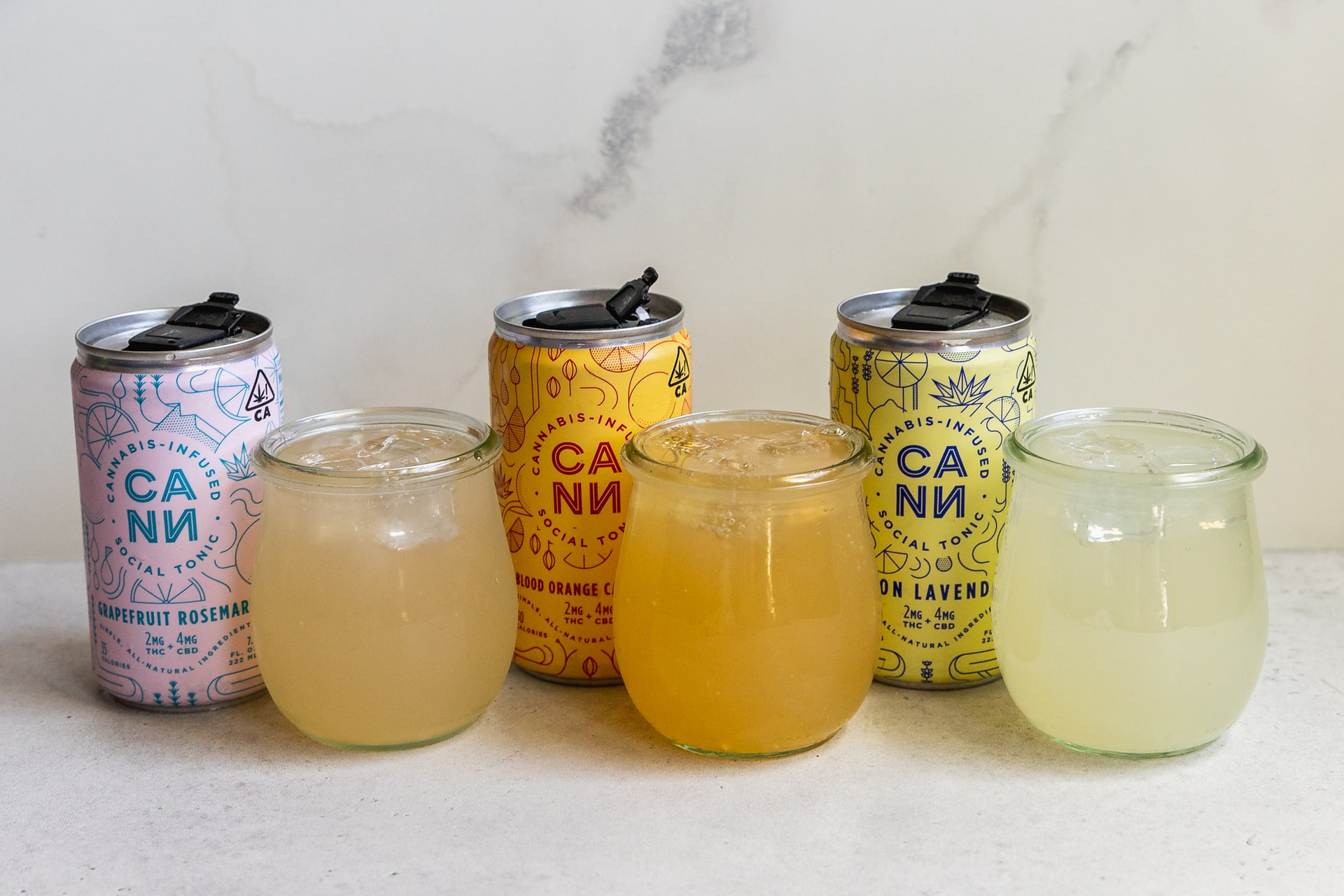 3 cans of cannabis-infused drinks