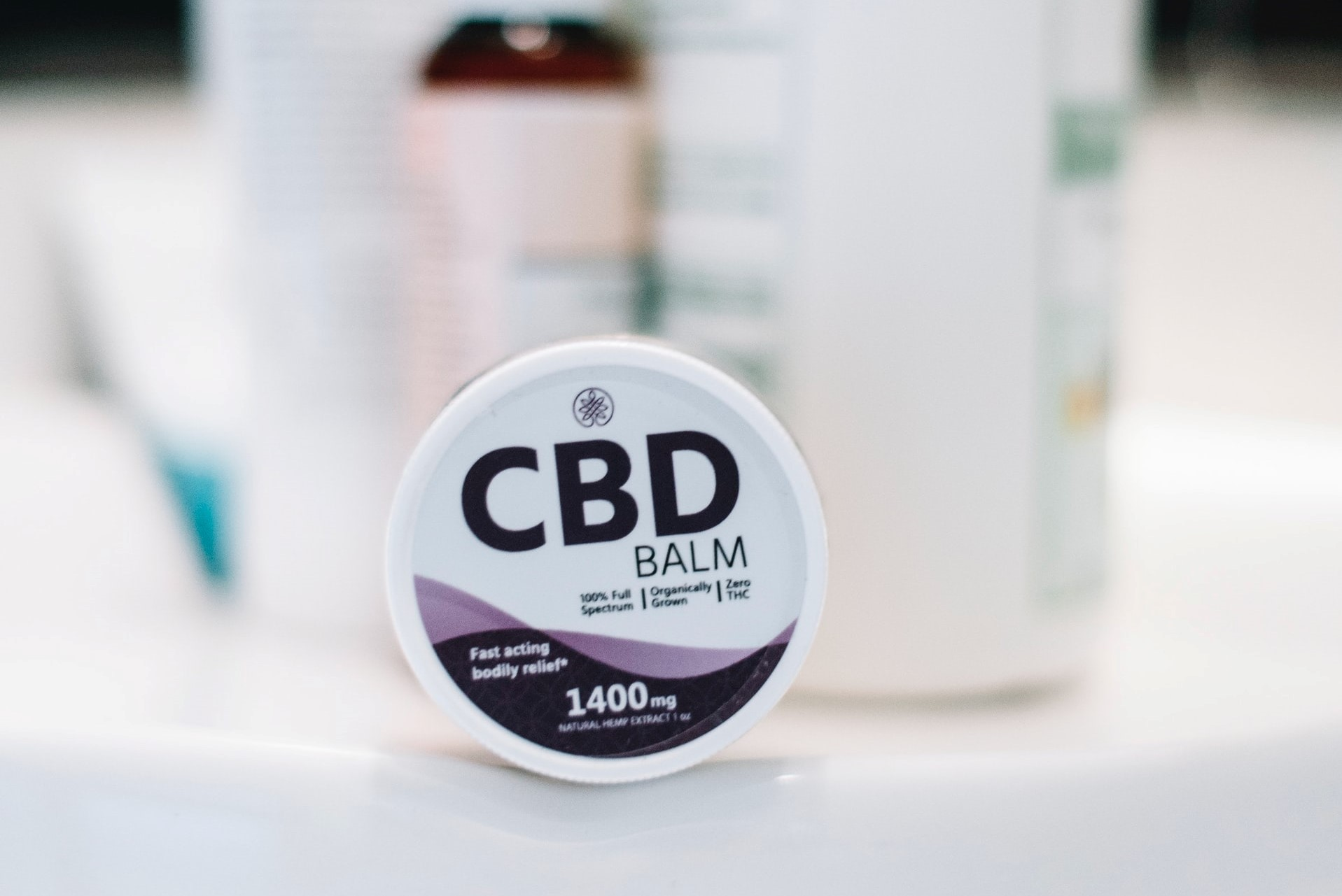 CBD balm container