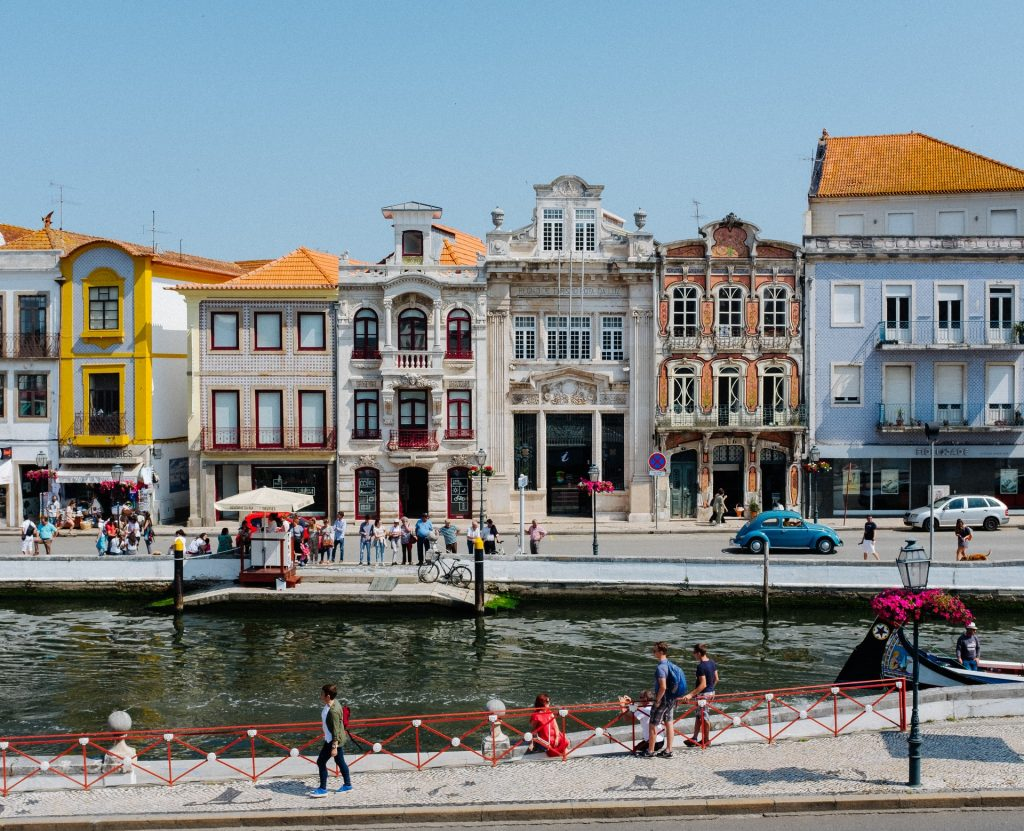 Portugal - old architecture with canal in front