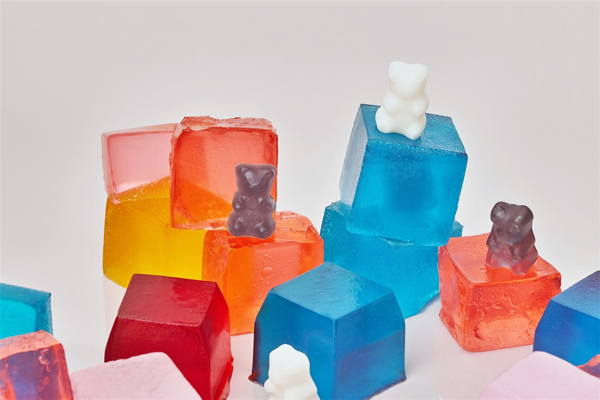 bright colours of gummy sweets