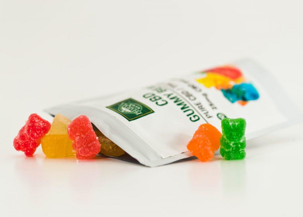 packet of cannabis gummies