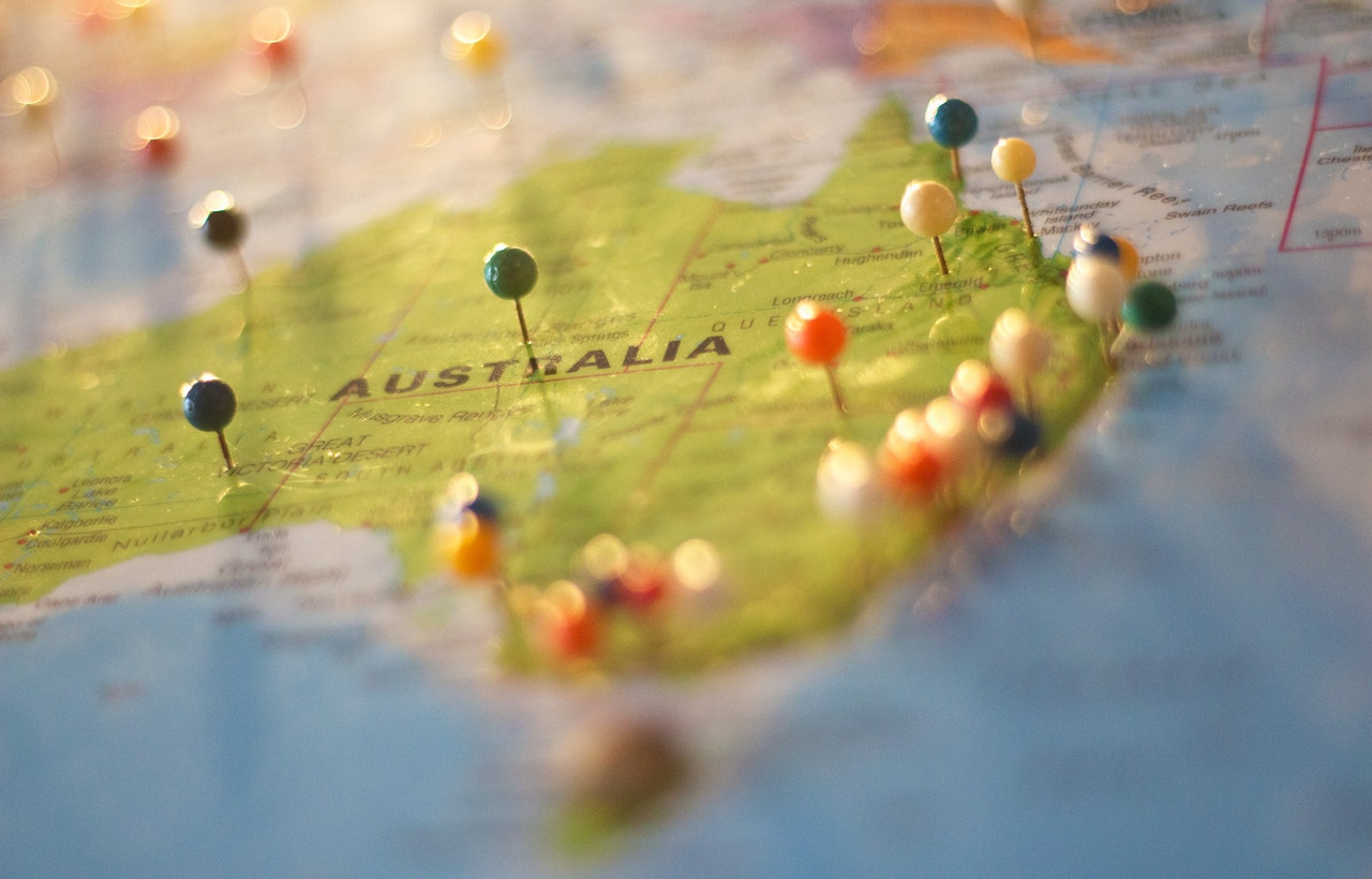 pin map of australia