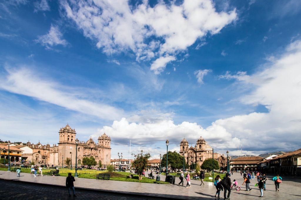town square in peru